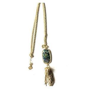 Kendra Scott Rayne necklace in Black Abalone Shell